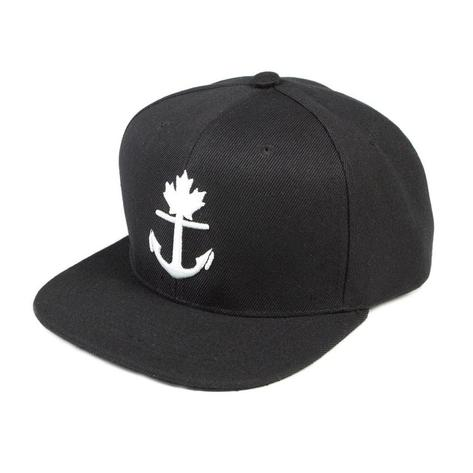 black baseball hat with white anchor