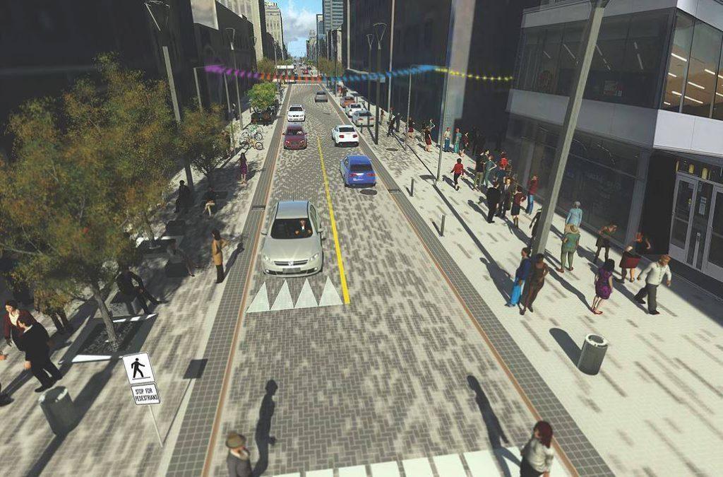 3d rendering of flex street
