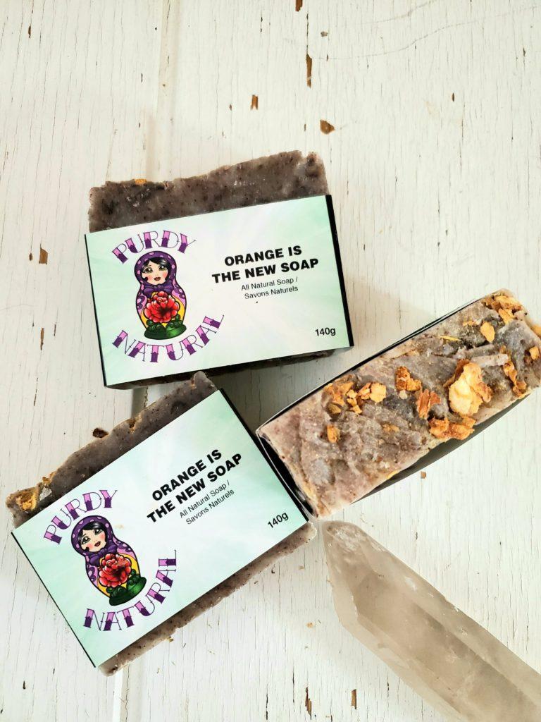 product shot of natural soap