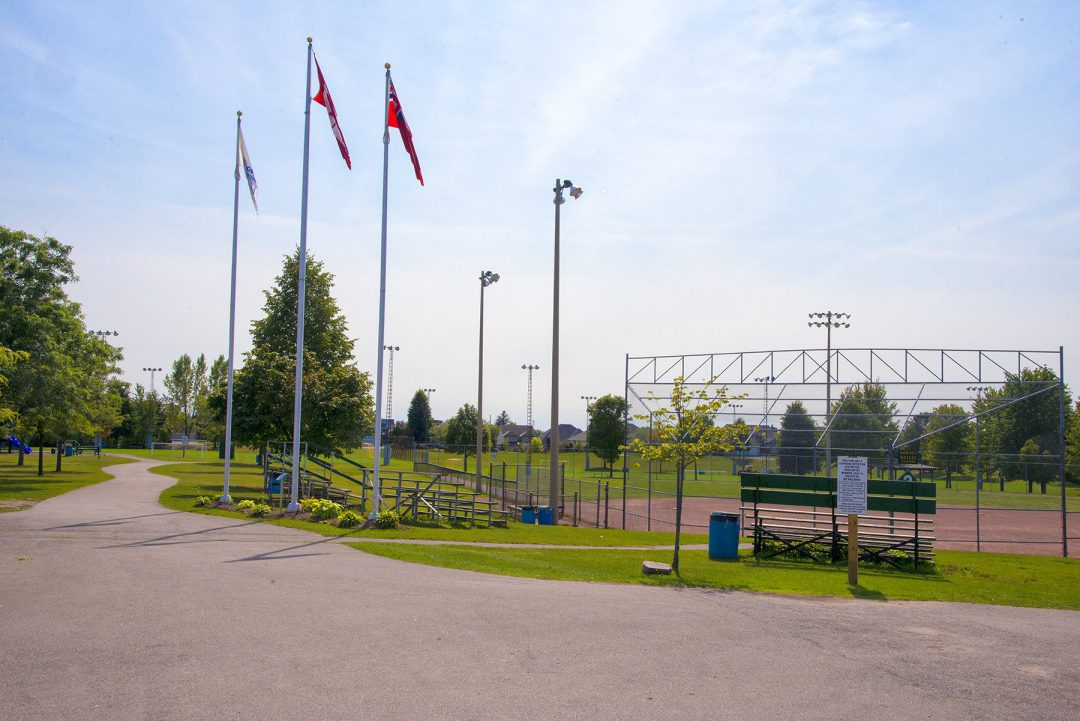 Baseball diamond in Byron, London, Ontario