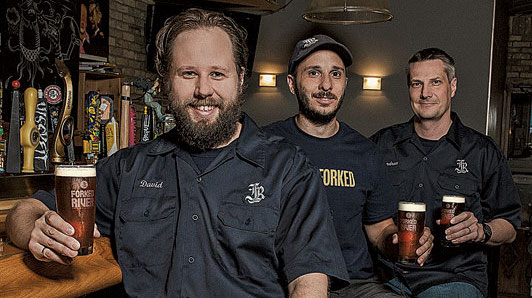 The three founders of Forked River Brewing Company
