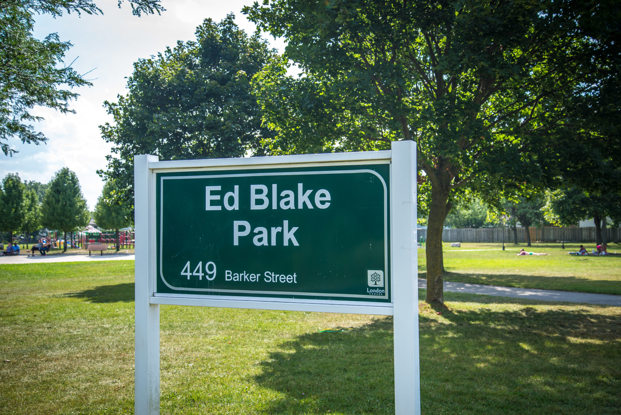 Ed Blake Park in Carling Heights, London, Ontario