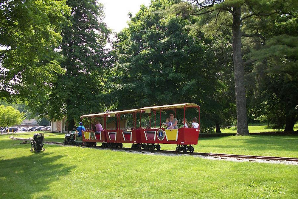 Train in Springbank park, London Ontario