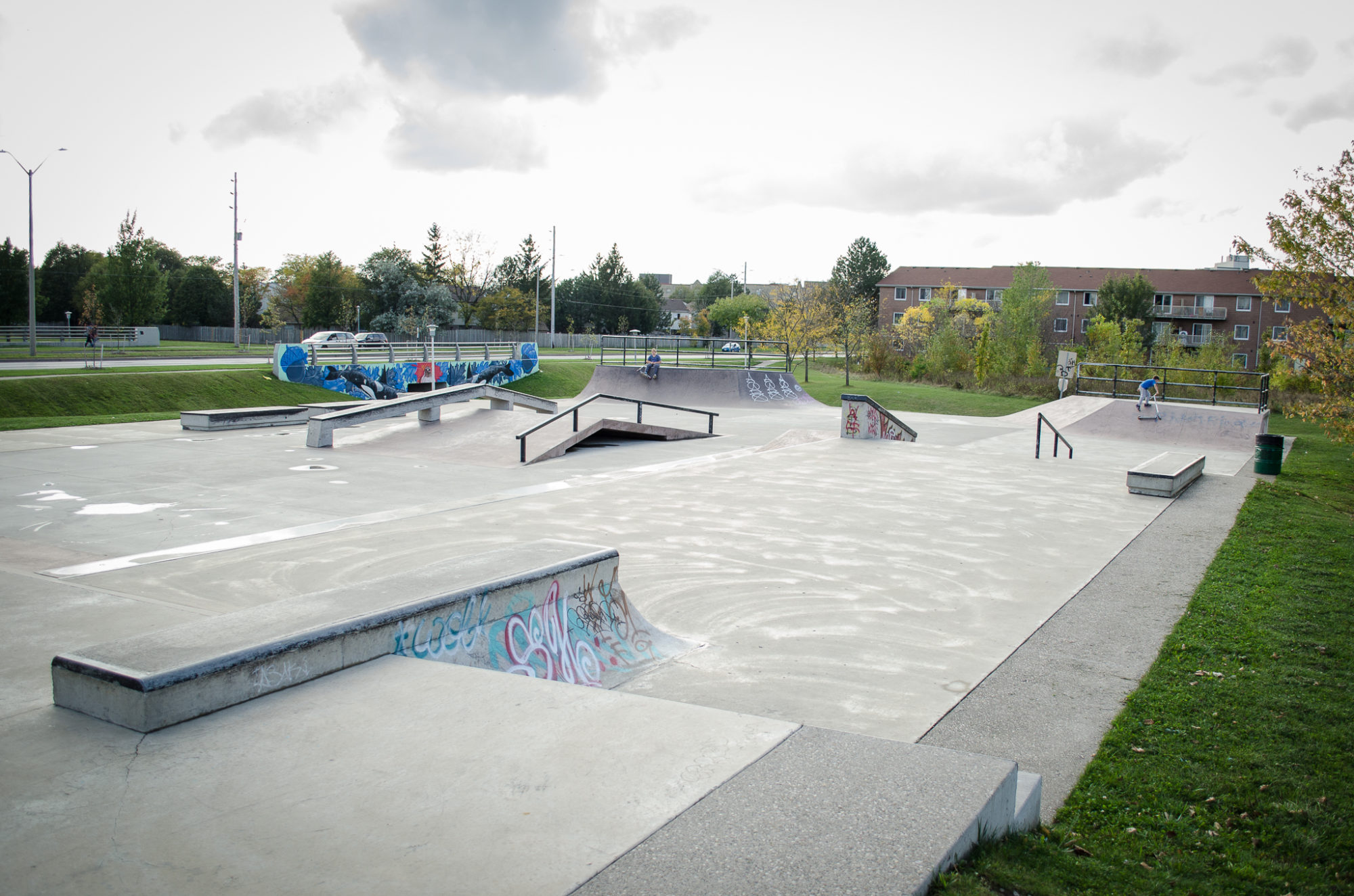 Skate Park In White Oaks, London, Ontario