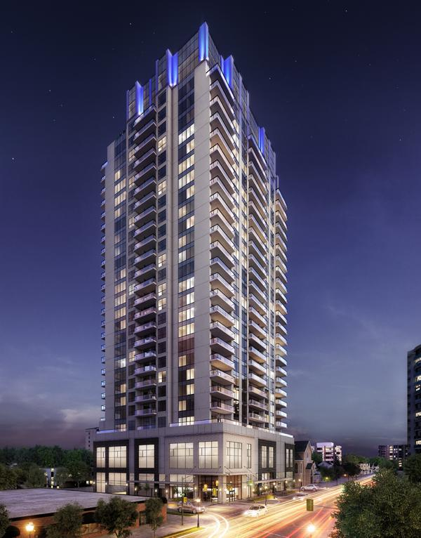 Rendering of Tricar's Azure Tower in London, Ontario