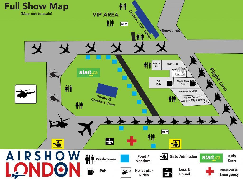 Airshow London 2018 Map
