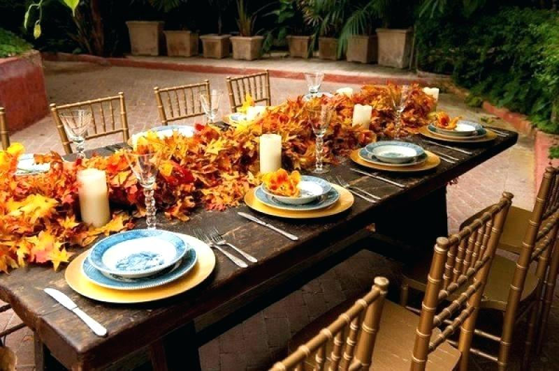 Fall decorating ideas - centerpieces and garlands