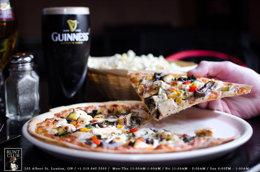 pizza and guinness beer