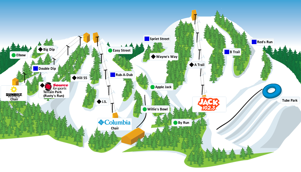 Boler mountain map