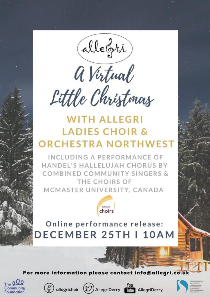 event poster with snowy background and writing on top